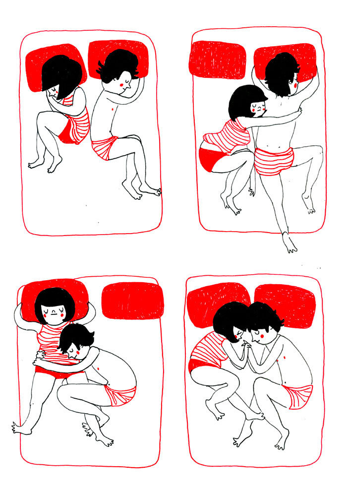 Να αγκαλιάζεις τον άλλο ασυναίσθητα την ώρα που κοιμάστε.