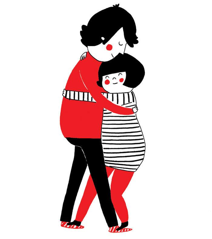 Αληθινή αγάπη σημαίνει να σταματάς ό,τι κάνεις απλά για μια αγκαλιά.