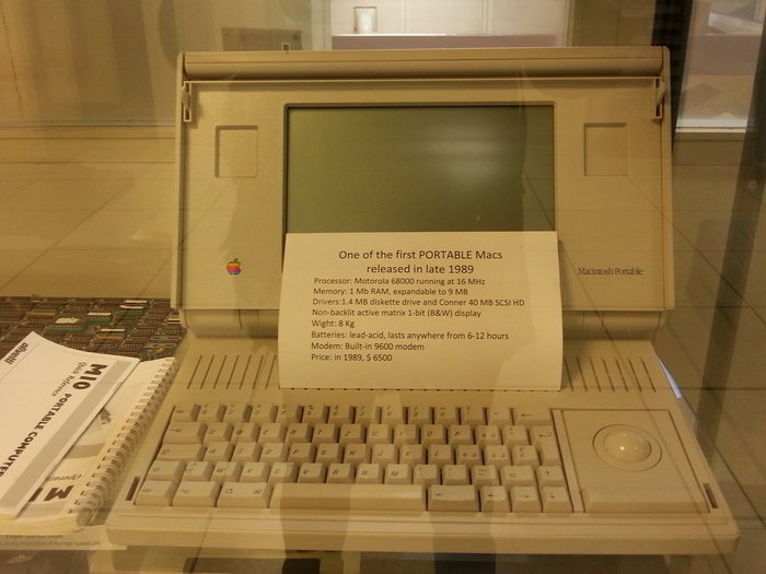 CERN Computing Centre, ο πρώτος φορητός υπολογιστής