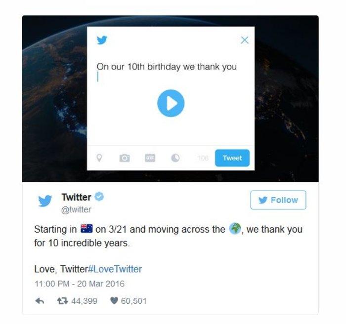 To Twitter γιορτάζει μία δεκαετία γεμάτη tweets, retweets και hashtags