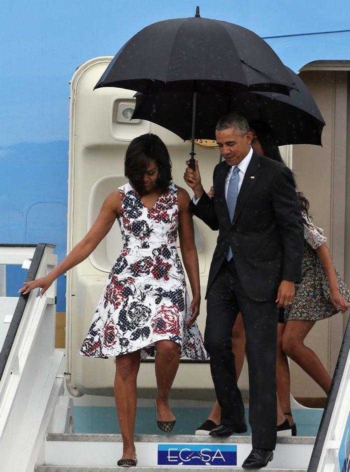 Η επική εμφάνιση της Μισέλ Ομπάμα στην Κούβα με φόρεμα Carolina Herrera