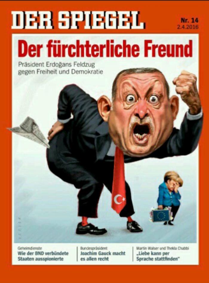 Το απίστευτο εξώφυλλο του Der Spiegel για τον Ερντογάν