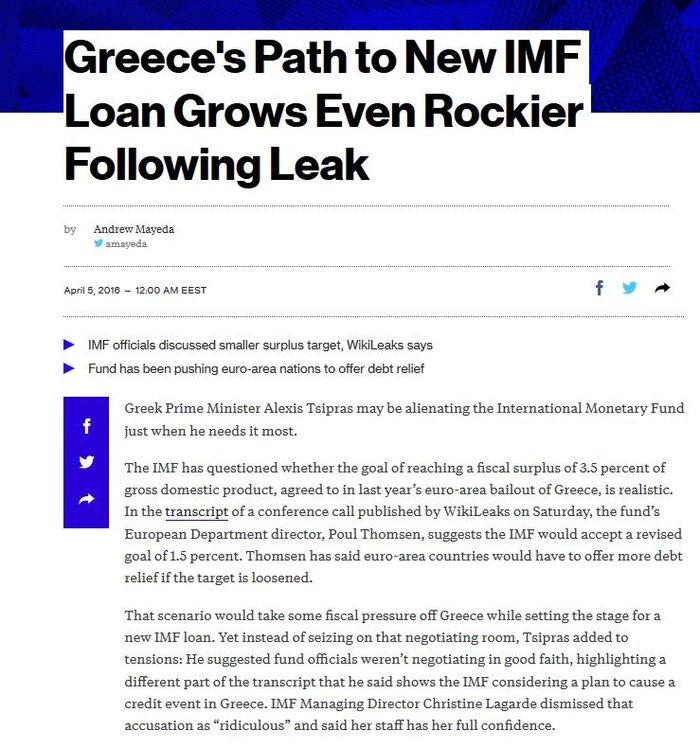 Bloomberg: Ο Τσίπρας αντί να αδράξει την ευκαιρία, επέλεξε τη ρήξη