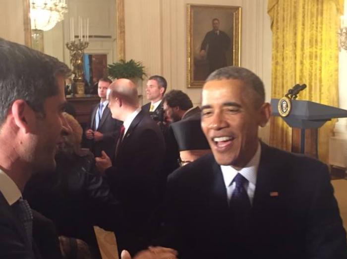 Το τετ-α-τετ του Μπακογιάννη με τον Ομπάμα στον Λ. Οίκο