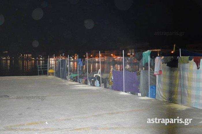 Χωρισμένο στα δύο το λιμάνι της Χίου- Δείτε εικόνες