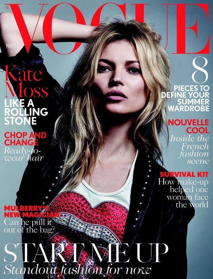 Κέιτ Μος: Η βασίλισσα ποζάρει γυμνόστηθη στη Vogue