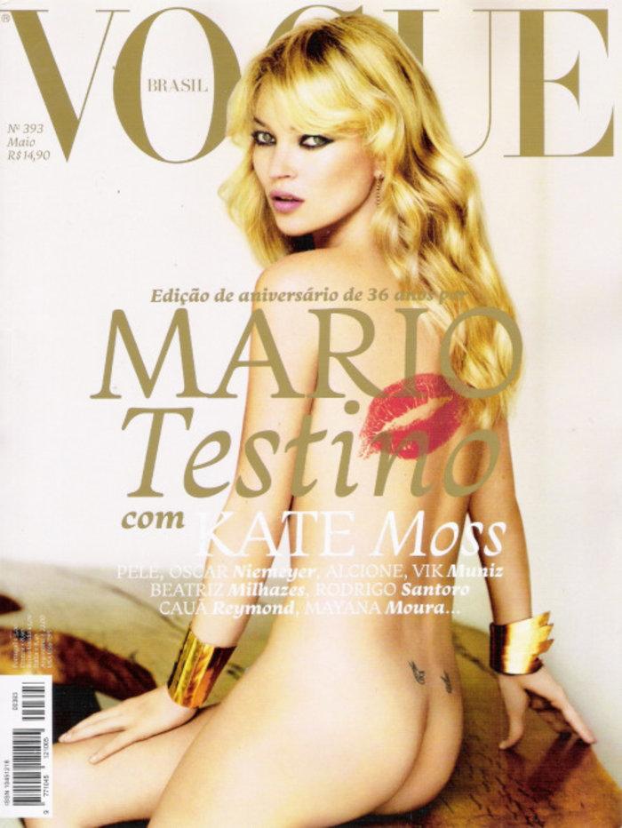 Κέιτ Μος: Η βασίλισσα ποζάρει γυμνόστηθη στη Vogue - εικόνα 4
