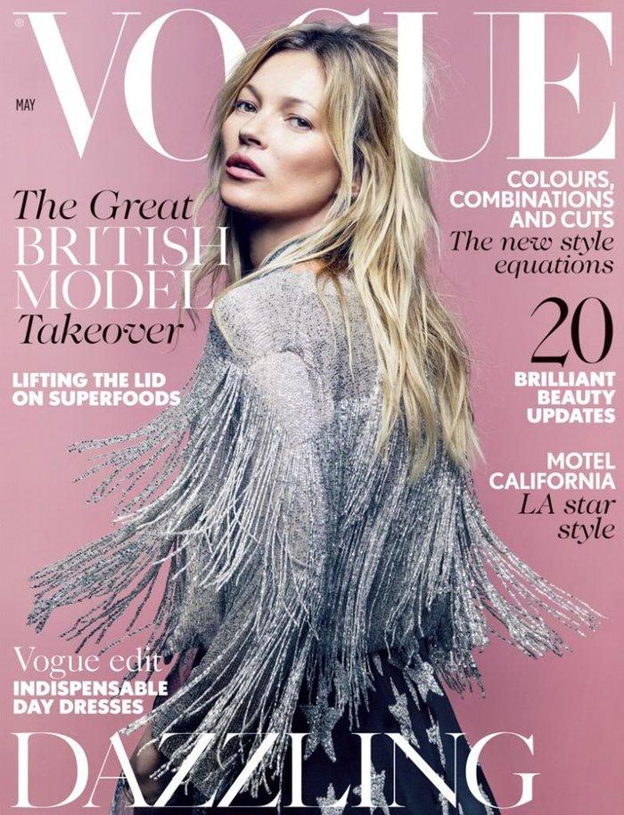 Κέιτ Μος: Η βασίλισσα ποζάρει γυμνόστηθη στη Vogue - εικόνα 8