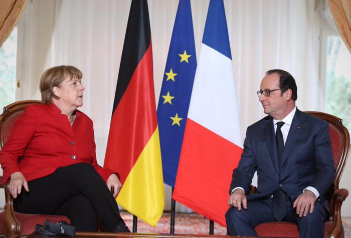 O γάλλος πρόεδρος και η γερμανίδα καγκελάριος