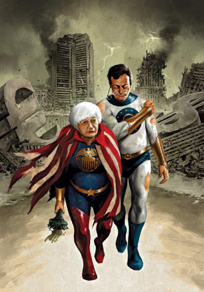 Bloomberg: Γιατί Ντράγκι & Γέλεν δεν μπορούν να σώσουν τον κόσμο