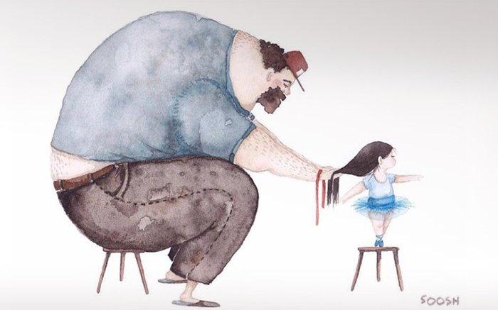 Η σχέση πατέρα-κόρης σε 12 εκπληκτικά σκίτσα - εικόνα 2