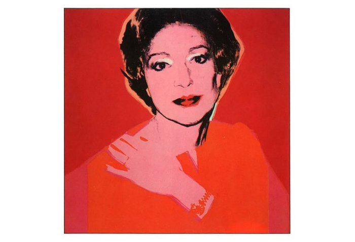 Η Ντόντα Βορίδη το 1977 από τον Άντι Γουόρχολ