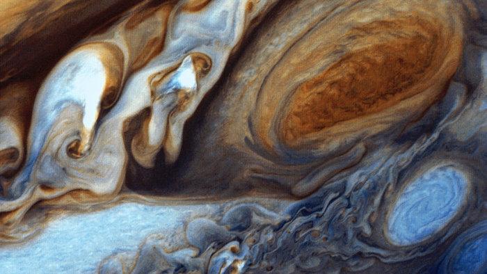Η Μεγάλη Ερυθρά Κηλίδα του Δία όπως φαίνεται από το Voyager 1, Φεβρουάριος 1979. Φωτο: Flickr/NASA