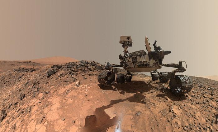 Τηλεκατευθυνόμενο όχημα στον Άρη, 5 Αυγούστου 2015. Φωτο: NASA/JPL-CALTECH/MSSS