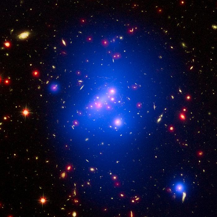 Γαλαξιακό σύμπλεγμα, 7 Ιανουαρίου 2016. Φωτο: NASA/CXC/UNIV OF MISSOURI/M.BRODWIN ET AL; NASA/STSCI; JPL/CALTECH