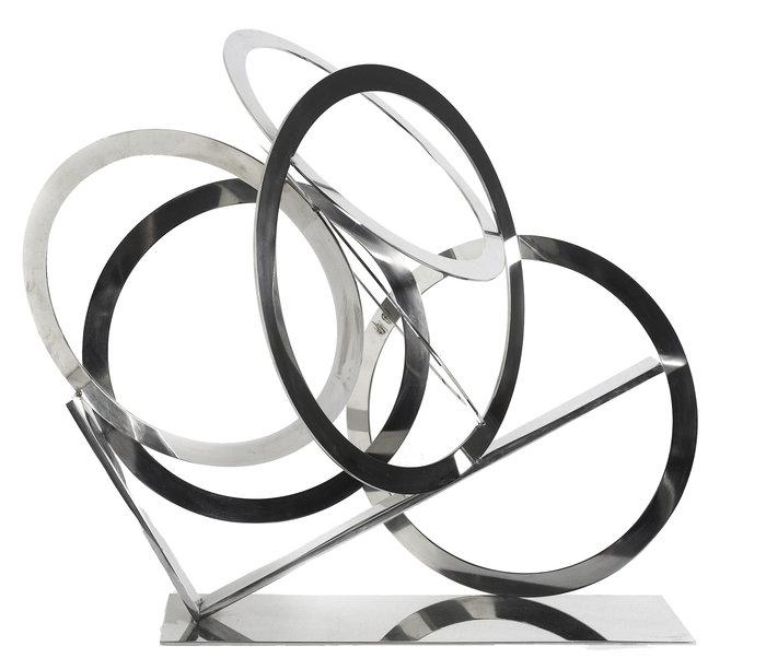 Ολυμπιακοί κύκλοι, 2001, ανοξείδωτος χάλυβας, 61 x 67 x 40 εκ.