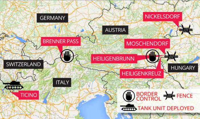 Express: Αποκαλυπτικός χάρτης δείχνει την «κατάρρευση» της Σένγκεν
