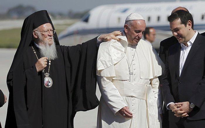 Ο Πάπας και ο Πατριάρχης με μήνυμα ανθρωπιάς στη Λέσβο - εικόνα 8