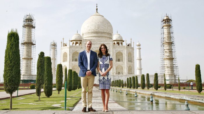 Γουίλιαμ και Κέιτ στο Ταζ Μαχάλ, 24 χρόνια μετά τη θρυλική φωτό της Νταϊάνα - εικόνα 11