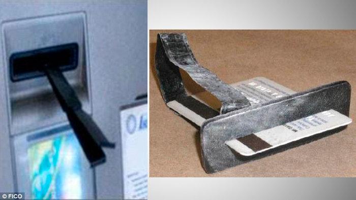 Ειδικα εργαλεία που παρακρατούν την κάρτα αφήνοντας σας να νομίζετε ότι την έχει παρακρατήσει το ΑΤΜ. Οταν απομακρυνθείτε, οι επιτήδειοι θα επιστρέψουν, θα αφαιρέσουν το ειδικό εργαλείο και θα πάρουν την κάρτα σας.