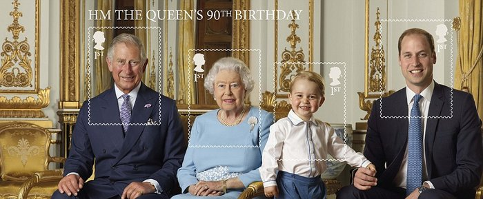 Ο πρίγκιπας Τζορτζ ποζάρει για το πρώτο του γραμματόσημο και γράφει ιστορία - εικόνα 3