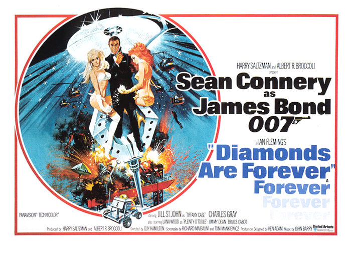 Αφίσα από την μεγάλη κινηματογραφική επιτυχία Diamonds are Forever
