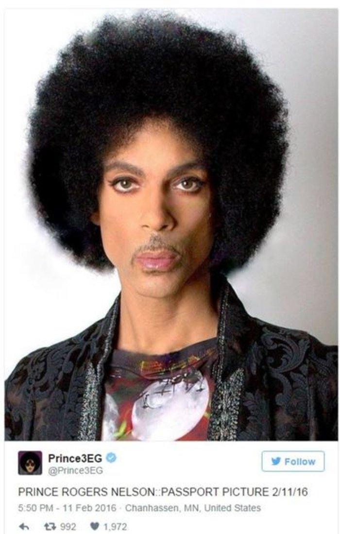 Η απερίγραπτα μοναδική φωτογραφία διαβατηρίου του Prince