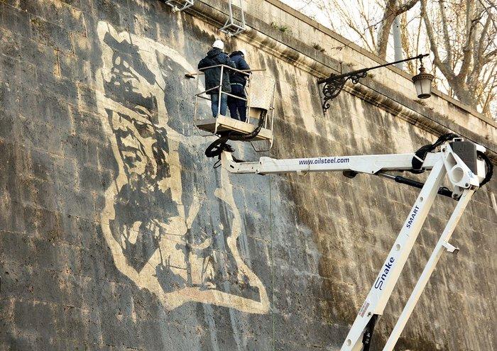 Οι όχθες του Τίβερη μεταμορφώνονται από μια μεγάλη οικολογική τοιχογραφία - εικόνα 4