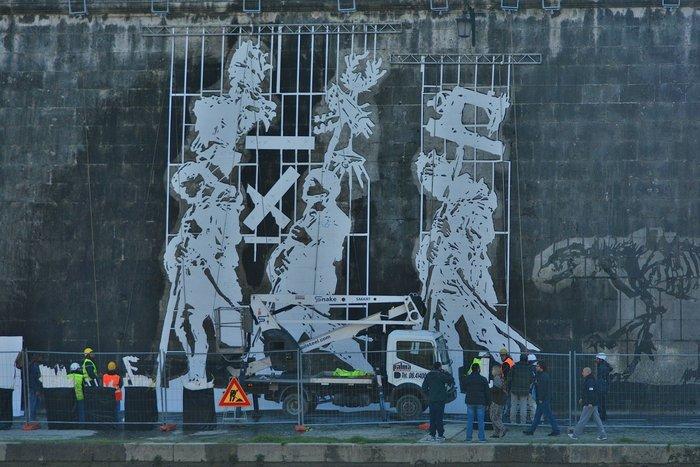 Οι όχθες του Τίβερη μεταμορφώνονται από μια μεγάλη οικολογική τοιχογραφία - εικόνα 6