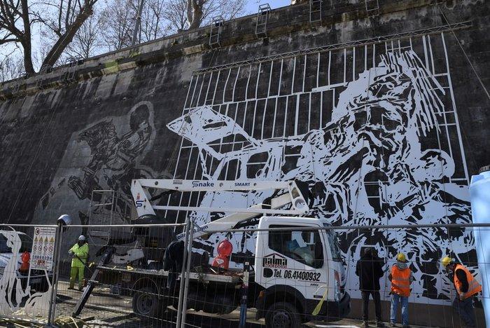 Οι όχθες του Τίβερη μεταμορφώνονται από μια μεγάλη οικολογική τοιχογραφία - εικόνα 7