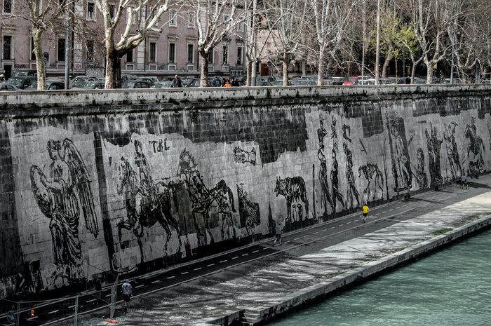 Οι όχθες του Τίβερη μεταμορφώνονται από μια μεγάλη οικολογική τοιχογραφία - εικόνα 10