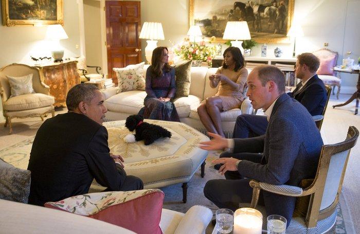 Εκλεψε την παράσταση ο μικρός Γεώργιος με ρόμπα γνωρίζοντας τον  Ομπάμα - εικόνα 4