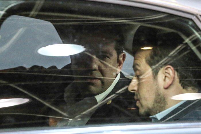 Ο πρωθυπουργός Αλέξης Τσίπρας και ο υπουργός Επικρατείας Νίκος Παππάς