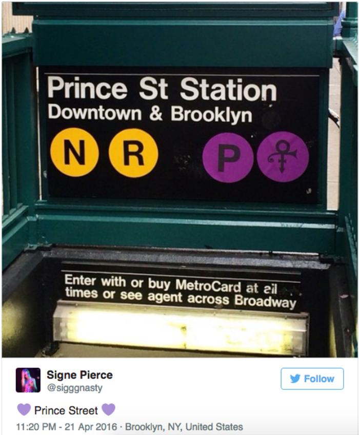Η Nέα Υόρκη  απέκτησε σταθμό στην μνήμη του Prince - εικόνα 2