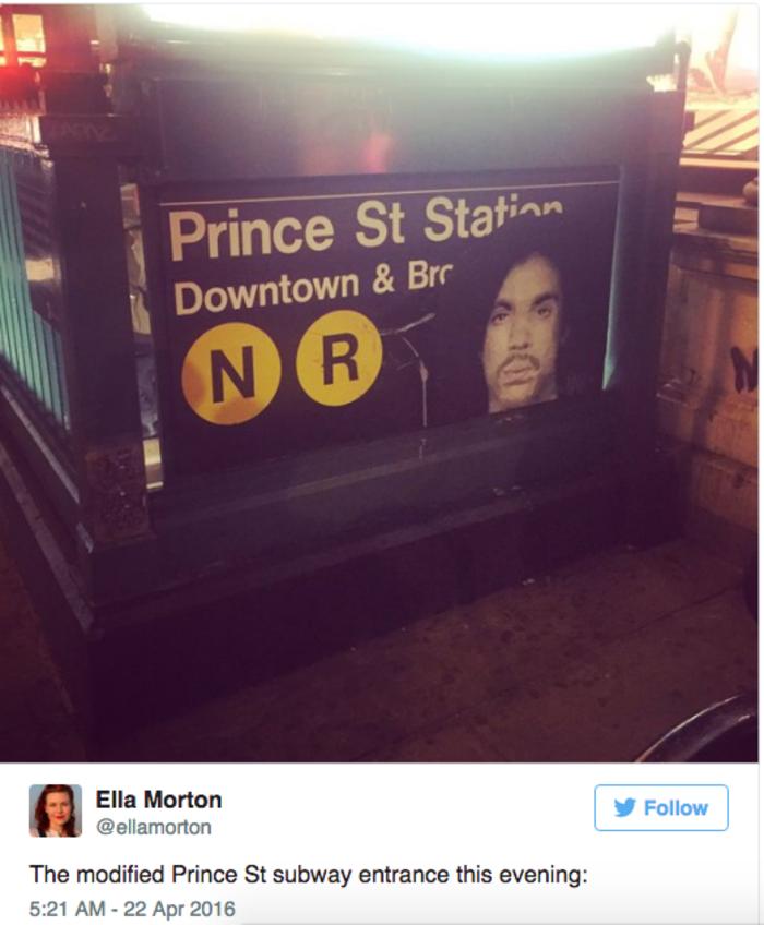 Η Nέα Υόρκη  απέκτησε σταθμό στην μνήμη του Prince - εικόνα 3