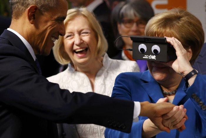 Ομπάμα και Μέρκελ μαζί στην...εικονική πραγματικότητα!