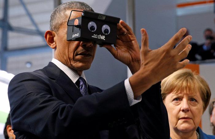 Ομπάμα και Μέρκελ μαζί στην...εικονική πραγματικότητα! - εικόνα 2