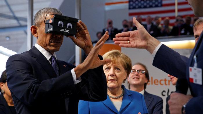 Ομπάμα και Μέρκελ μαζί στην...εικονική πραγματικότητα! - εικόνα 3