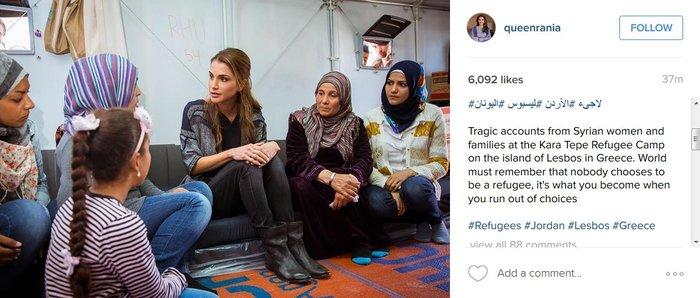 Η Βασίλισσα Ράνια από τη Λέσβο: Κανείς δεν επιλέγει να γίνει πρόσφυγας - εικόνα 3