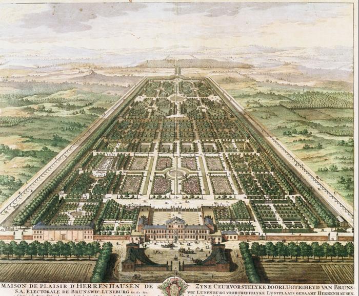 Σκίτσο του Great Garden από το 1708