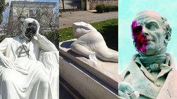 Η δυστυχία του να είσαι άγαλμα στην Αθήνα