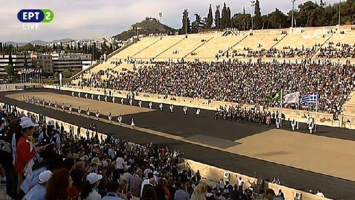 Ξεκίνησε η τελετή παράδοσης της Ολυμπιακής Φλόγας
