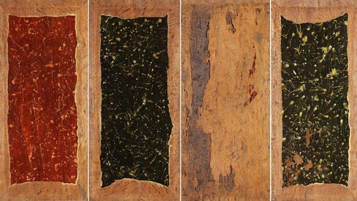Η πίσω όψη του πάνελ Visions of the Hereafter, σαν έργο του Πόλοκ