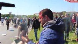 Αγριο ξύλο σε διαδήλωση κατά του Ρέντσι στην Πίζα