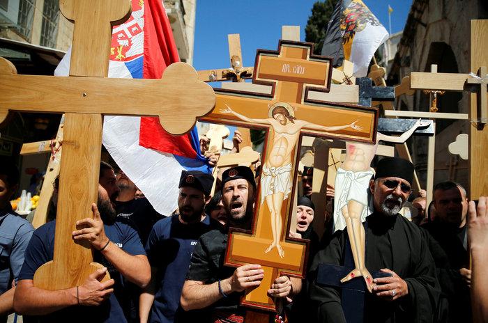 Ιερουσαλήμ: Η πομπή στην Οδό του Μαρτυρίου έως τον Γολγοθά - φωτο - εικόνα 4