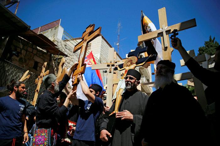 Ιερουσαλήμ: Η πομπή στην Οδό του Μαρτυρίου έως τον Γολγοθά - φωτο - εικόνα 5