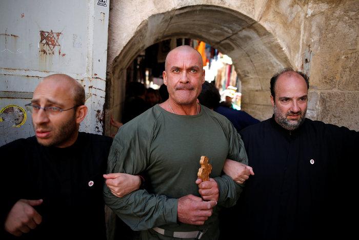 Ιερουσαλήμ: Η πομπή στην Οδό του Μαρτυρίου έως τον Γολγοθά - φωτο - εικόνα 3