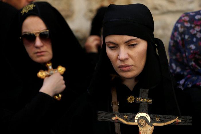 Ιερουσαλήμ: Η πομπή στην Οδό του Μαρτυρίου έως τον Γολγοθά - φωτο - εικόνα 8