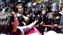 Νέα επεισόδια και συλλήψεις σε διαδήλωση κατά του Τραμπ στο Σαν Φρανσίσκο