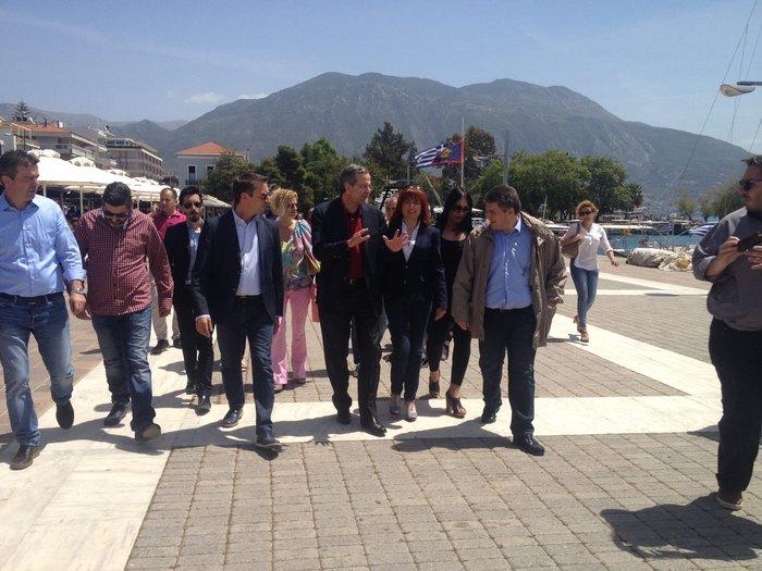 Η τυχαία συνάντηση Παυλόπουλου - Σαμαρά στην Καλαμάτα